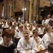 Pielgrzymka dzieci do katedry