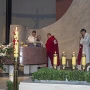Adoracja Najświętszego Sakramentu w wigilię Zesłania Ducha Świętego.