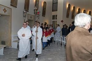 Sakrament bierzmowania. Sakramentu udziela biskup Damian Bryl.