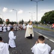 Błgosławieństwo Najświętszym Sakramentem na cztery strony świata.