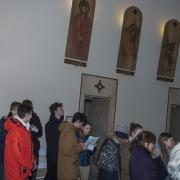 Droga Krzyżowa z udziałem młodzieży.