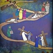 Plakat na tegoroczną Drogę Krzyżową.