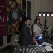 Uroczyste otwarcie Jubileuszowej Bramy Miłosierdzia. Piotr Nowak - instrumenty klawiszowe.