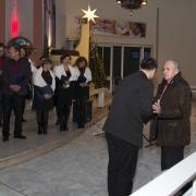 Przywitanie dwóch dyrygentów chórów biorących udział w koncercie.