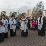 Uroczystość zakończenia Misji Świętych przy Krzyżu misyjnym.