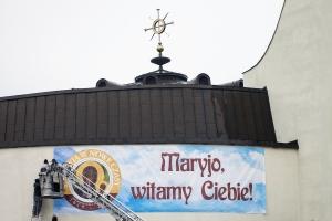 Nawiedzenie Matki Bożej Czestochowskiej w kopii cudownej Ikony Jasnogórskiego Obrazu.