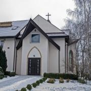 Podrzecze, wejście do kaplicy ochronki.