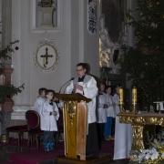 Msza święta. Homilia wygłoszona przez zakonnika z bazyliki.