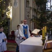 Ks. Maciej wspomiał o swojej mszy prymicyjnej w tutejszym sanktuarium.