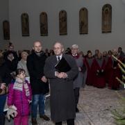 Dyrygent chóru Nazaret p. Eligiusz Szczepaniak.
