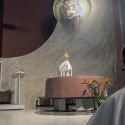 Zakończenie liturgi błogosławieństwem.