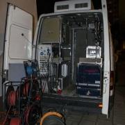 Wieczorne przygotowanie do transmisji w TV Polonia.